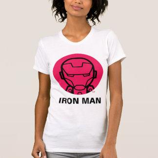 Iron Man Stylized Line Art Icon T-Shirt