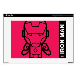 "Iron Man Stylized Line Art Skin For 15"" Laptop"