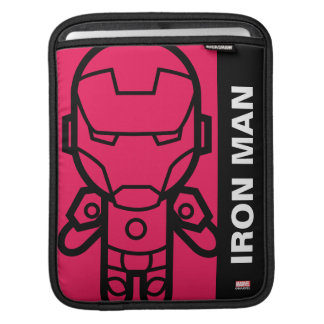 Iron Man Stylized Line Art Sleeve For iPads