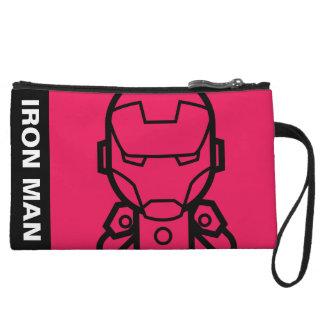 Iron Man Stylized Line Art Wristlet Wallet