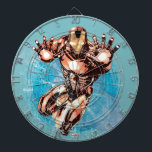 """Iron Man Watercolor Character Art Dartboard<br><div class=""""desc"""">Iron Man 