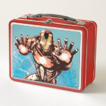 """Iron Man Watercolor Character Art Metal Lunch Box<br><div class=""""desc"""">Iron Man 