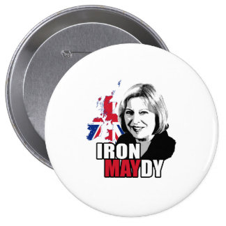 Iron Maydy the Iron Lady - -  Pinback Button