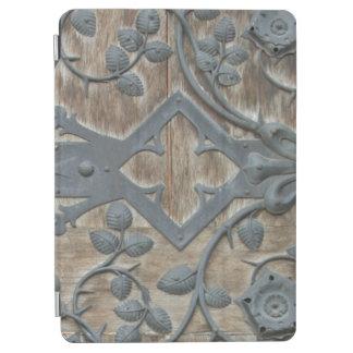 Iron Medieval Lock on Wooden Door iPad Air Cover