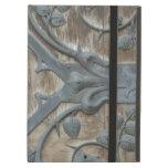 Iron Medieval Lock on wooden door iPad Folio Cases
