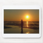 Iron Men Sculpture at Sunset, Crosby, Liverpool UK Mouse Pad
