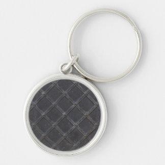 Iron Metal diamond pattern Keychains