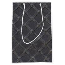 Iron Metal diamond pattern Medium Gift Bag