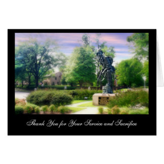 Iron Mike Thank You for You Greeting Card