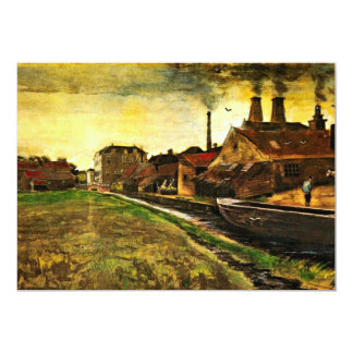 "Iron Mill in The Hague by Vincent van Gogh 5"" X 7"" Invitation Card"