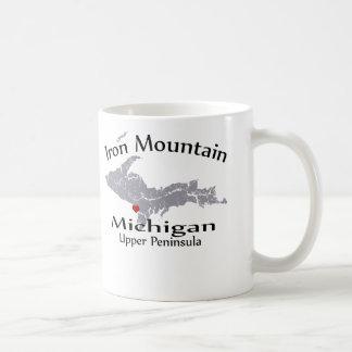 Iron Mountain Michigan Heart Map Design Mug Mug