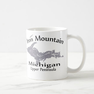 Iron Mountain Michigan Map Design Mug Mug