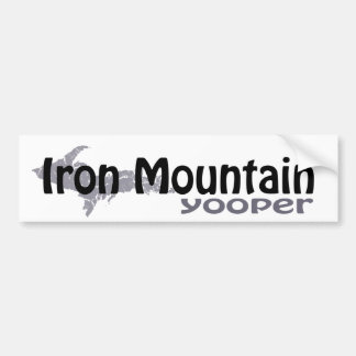 Iron Mountain Michigan Yooper Bumper Sticker