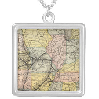 Iron Mountain Route 2 Silver Plated Necklace