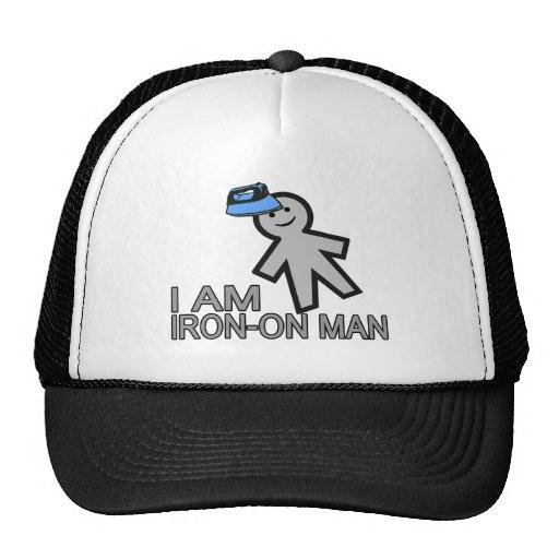Iron-On Man Trucker Hat