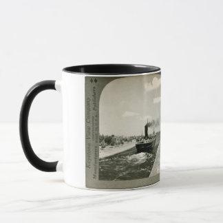 Iron Ore Boat Leaving the Soo - Vintage Stereoview Mug