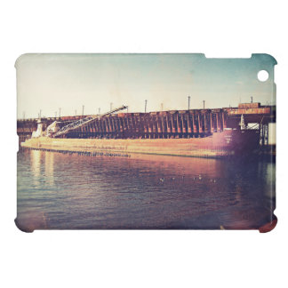 Iron Ore Freighter In Dock iPad Mini Case