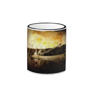 Iron Ore Freighter Ringer Coffee Mug