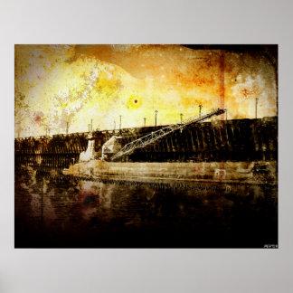 Iron Ore Freighter Print