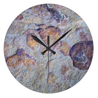 Iron Ore Stone Rock Large Clock