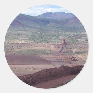 Iron Ore Train Loading At Paraburdoo Mine Classic Round Sticker
