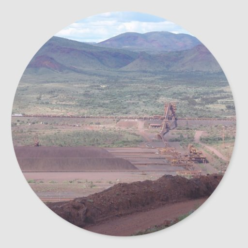 Iron Ore Train Loading At Paraburdoo Mine Sticker
