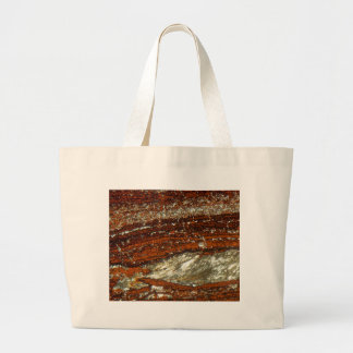 Iron ore under the microscope large tote bag