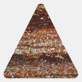 Iron ore under the microscope triangle sticker