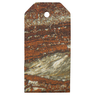 Iron ore under the microscope wooden gift tags