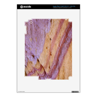 Iron oxides color a sandstone formation iPad 3 skin