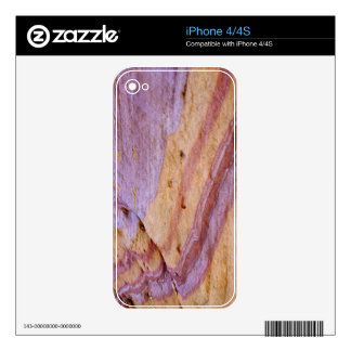 Iron oxides color a sandstone formation iPhone 4S skin