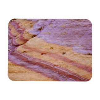 Iron oxides color a sandstone formation rectangular photo magnet