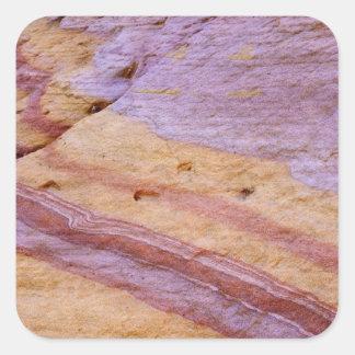 Iron oxides color a sandstone formation square sticker