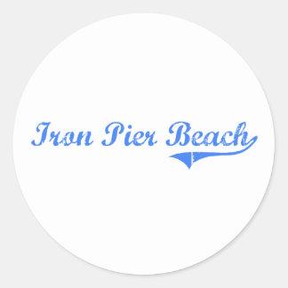 Iron Pier Beach New York Classic Design Sticker
