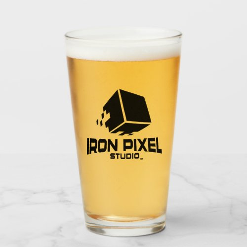 Iron Pixel Glass Cup