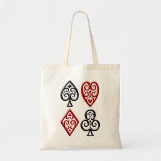 Iron Playing Card Suits Tote Bag