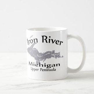 Iron River Michigan Map Design Mug Mug
