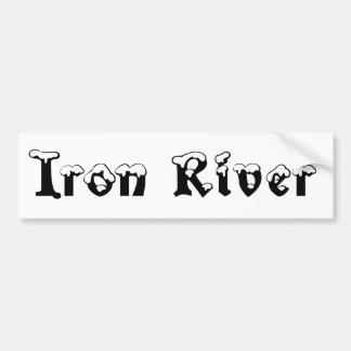 Iron River Michigan Snow Bumper Sticker