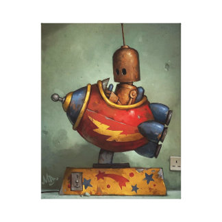 Iron robot Stretched Canvas Print