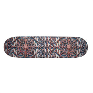 Iron scrolling skateboard