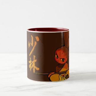 iron shaolin bunny fury Two-Tone coffee mug