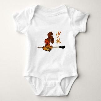 iron shaolin bunny kwan dao baby bodysuit