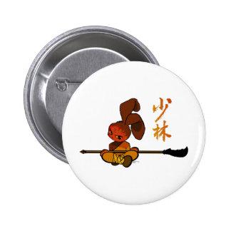 iron shaolin bunny kwan dao pinback button