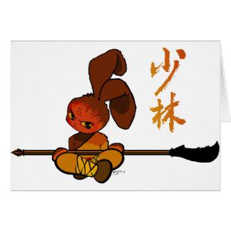 iron shaolin bunny kwan dao greeting cards