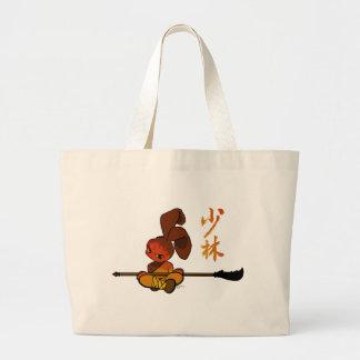 iron shaolin bunny kwan dao large tote bag