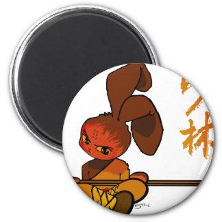 iron shaolin bunny kwan dao fridge magnet