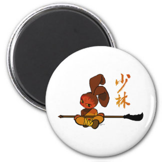 iron shaolin bunny kwan dao refrigerator magnet