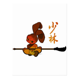 iron shaolin bunny kwan dao postcard