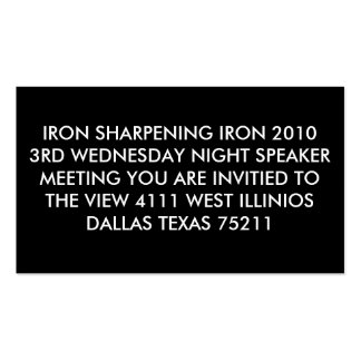 IRON SHARPENING IRON 2010 3RD WEDNESDAY NIGHT S... BUSINESS CARDS