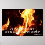 Iron sharpens iron Proverbs Poster